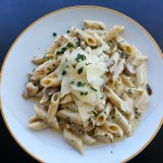 Chanterelle Pasta with Parmesan Cheese