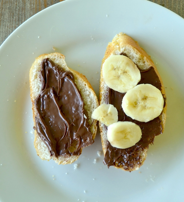 Nutella and Banana on French Bread