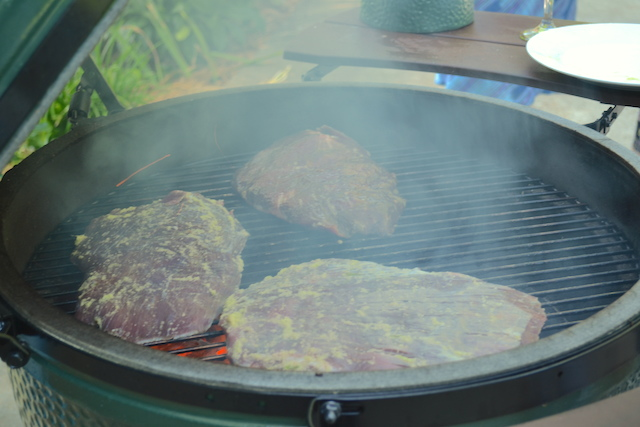 Flank Steaks on the Grill