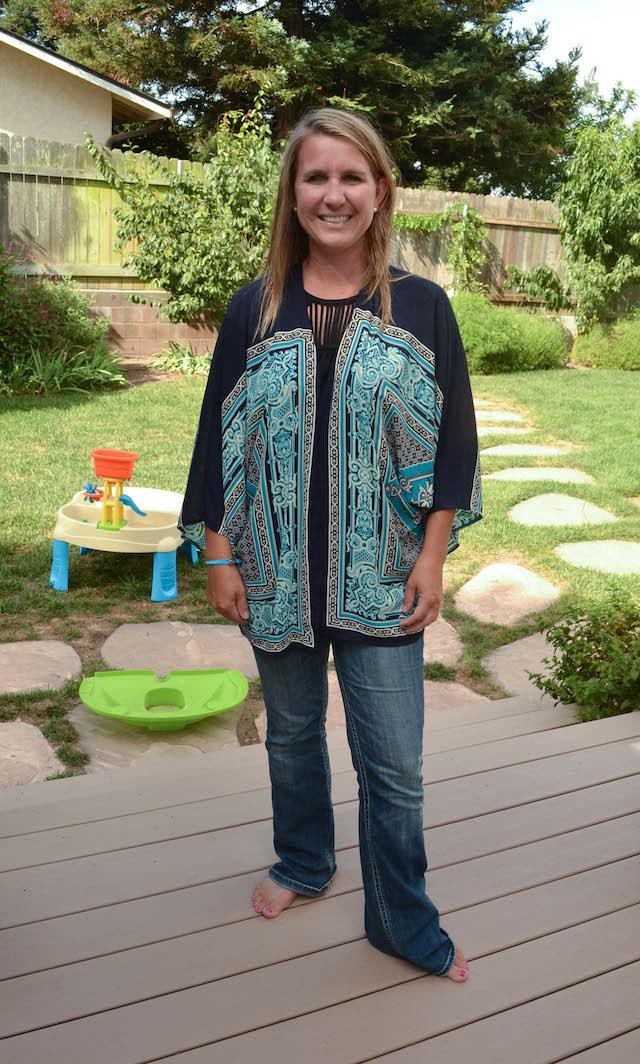Pixley Monty Scarf Print Kimono Cardigan