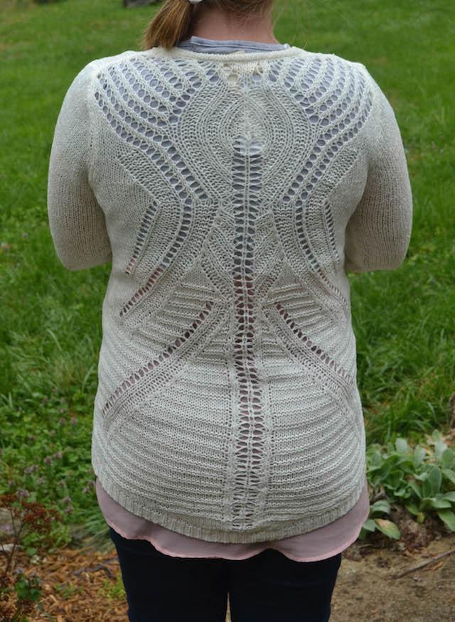 Mystree Vinnie Open Crochet Detail Cardigan back