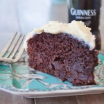 Guiness Chocolate Cake with Bailey's Frosting