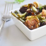 Roasted Brussel Sprouts with Asian Vinaigrette