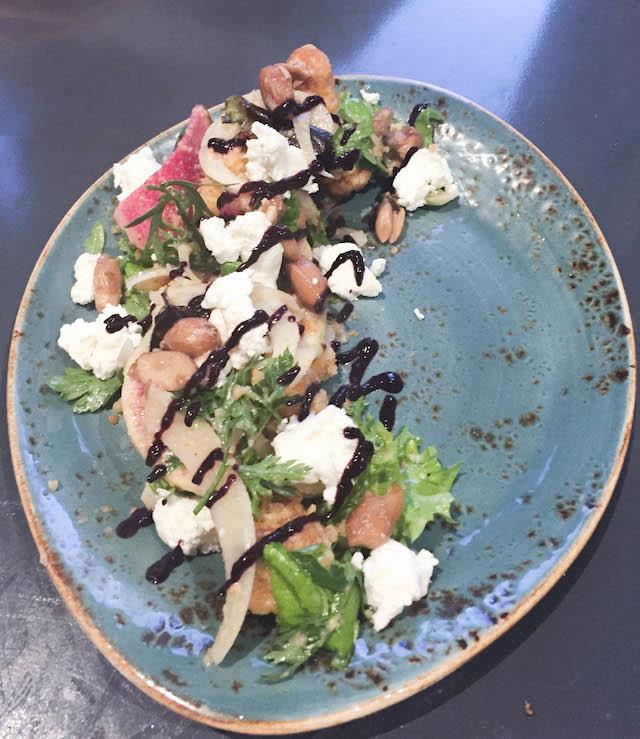 Gunshow Cornbread Panzanella Salad with Sweet Tea Vinaigrette