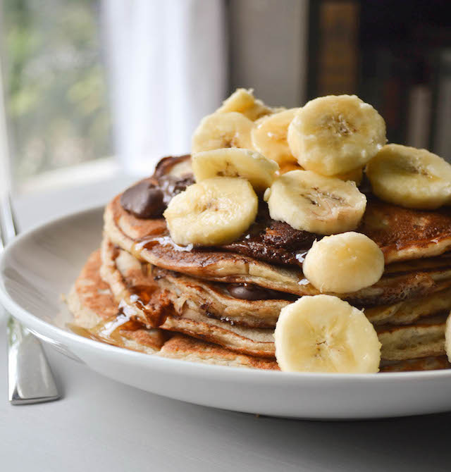 Chocolate Chip Banana Bread Pancakes
