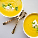 Roasted Curry Acorn Squash Soup