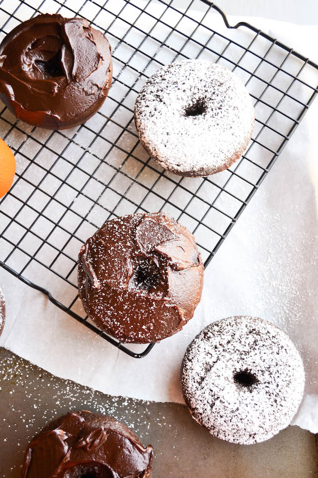 Spiced Orange Chocolate Doughnuts