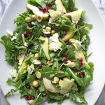 Winter Salad of Arugula, Pomegranates and Toasted Hazelnuts