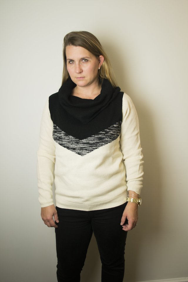 November Stitch Fix Review: THML Lerna Cowl Neck Sweater