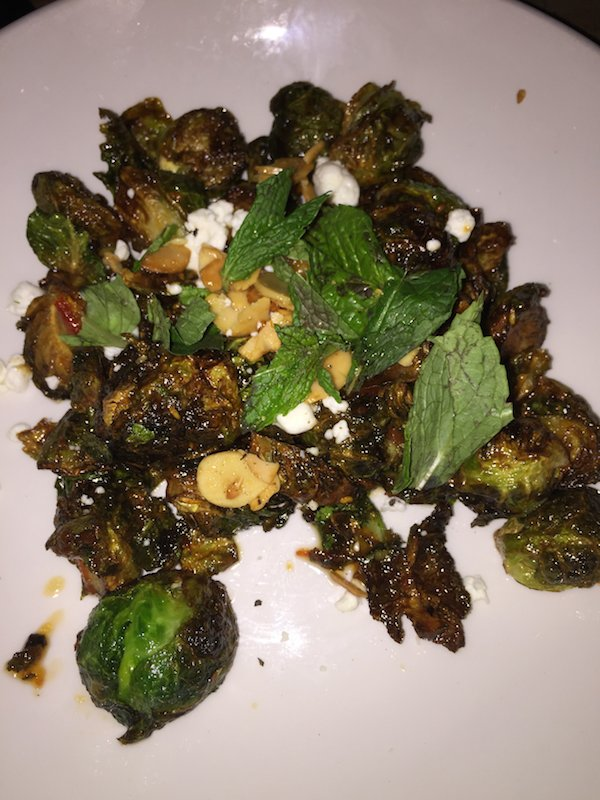 Brussel Sprouts with Harissa Vinaigrette at the Optimist Restaurant in Atlanta