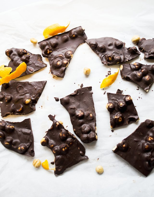 Chocolate-Orange Hazelnut Bark Recipe — Dishmaps