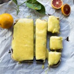 Chocolate Ganache Blood Orange Curd Bars