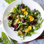 Roasted Beet Salad with Goat Cheese and Smoky Orange Vinaigrette
