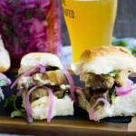 Seared Pork Belly Sliders with Pickled Onions and Smoked Mayo