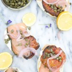 Bagels and Lox with Roasted Heirloom Tomatoes