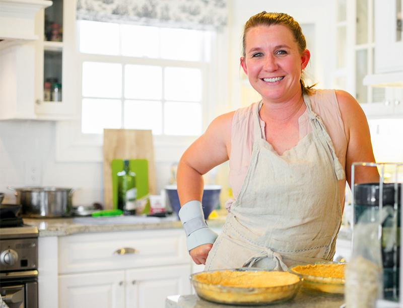 Talia in the kitchen bright