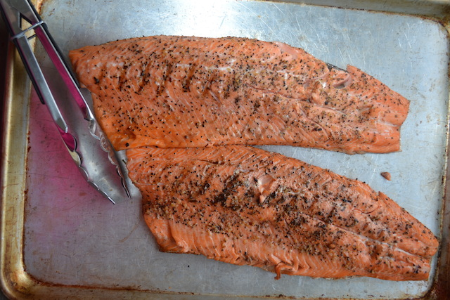 salmon off grill