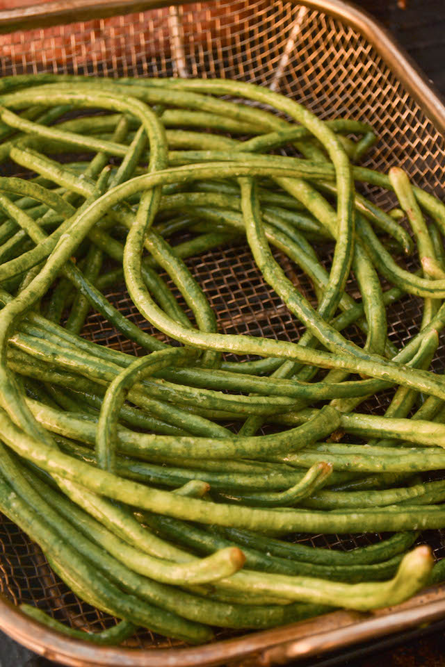 Grilling the Long Beans