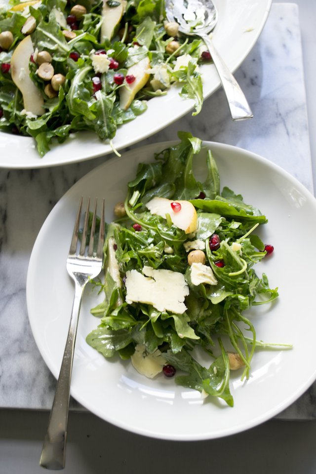 Winter Salad of Arugula and Pomegranate Seeds