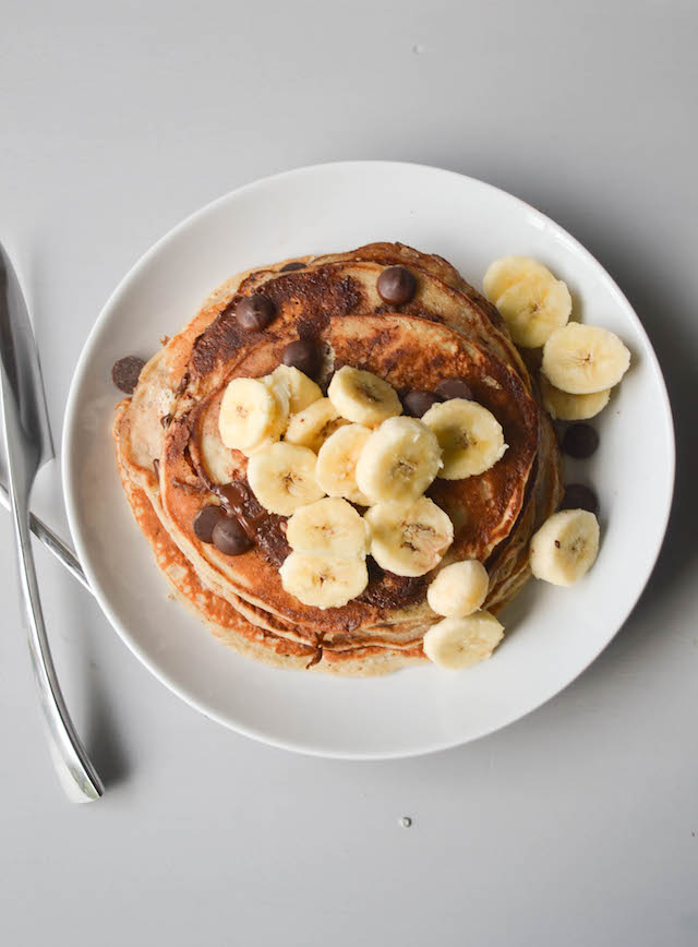 Banana Bread Chocolate Chip Pancakes