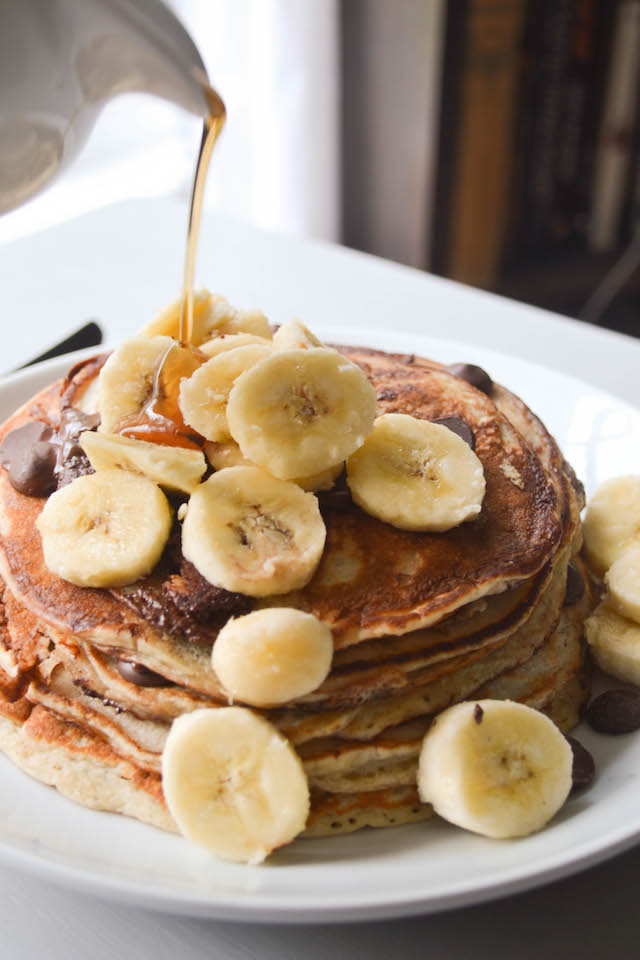 Maple Syrup and Banana Pancakes