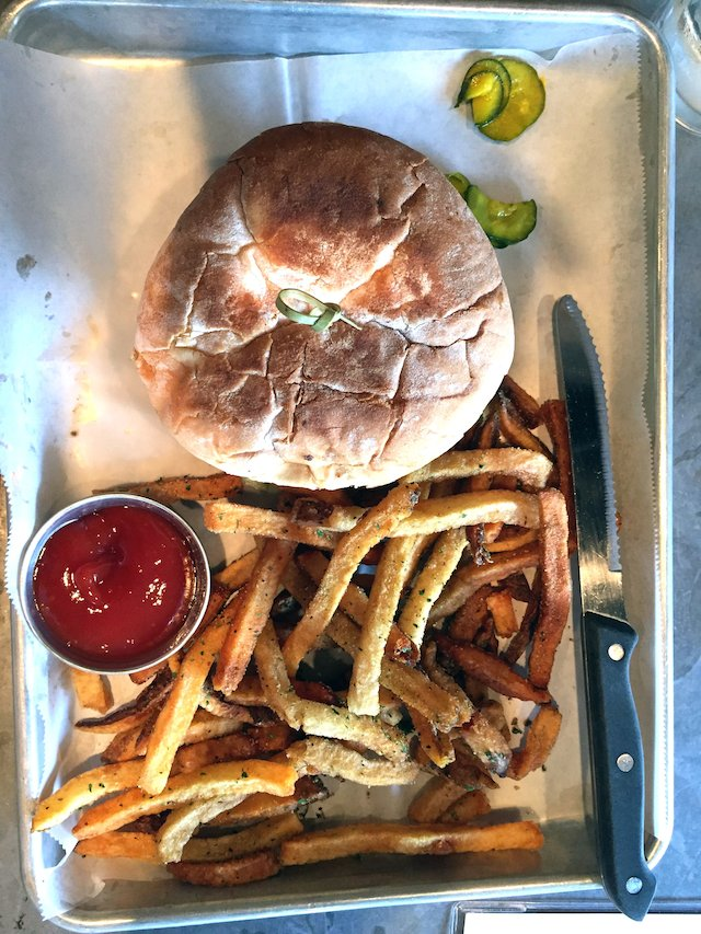 Sweet Auburn Barbecue Hamburger