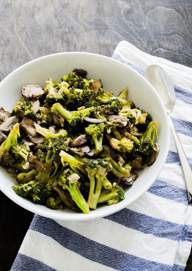 Sauteed Broccoli and Mushrooms