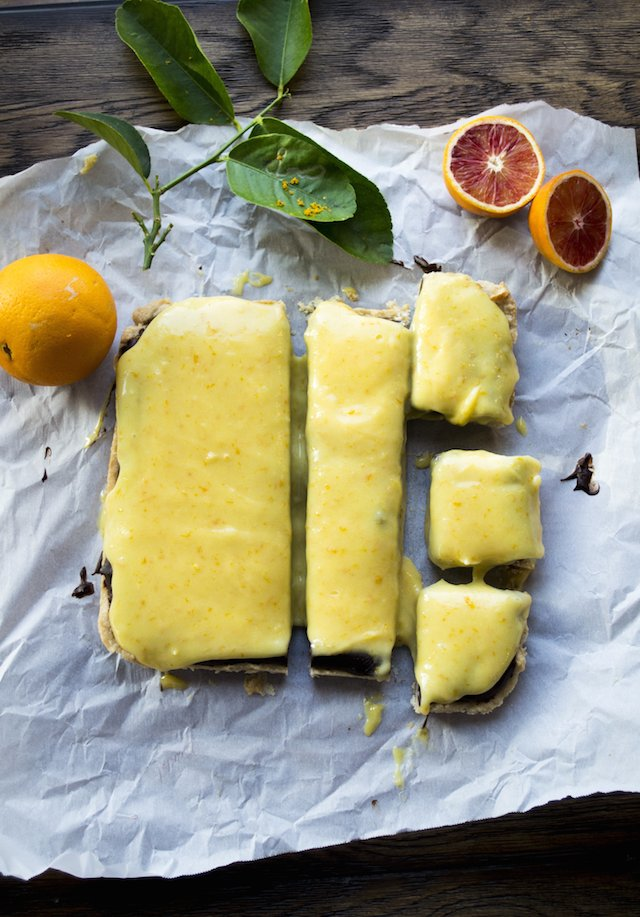 Chocolate Ganache, Salted Shortbread and Blood Orange Curd Recipe