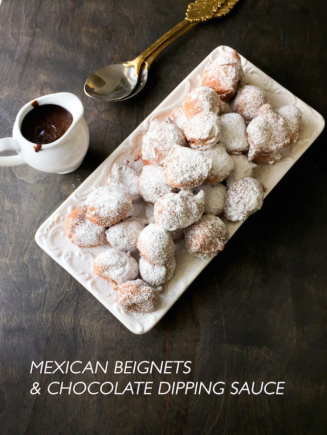 Mexican Beignets and Chocolate Sauce Recipe